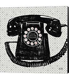 Vintage Analog Phone by Michael Mullan Canvas Art