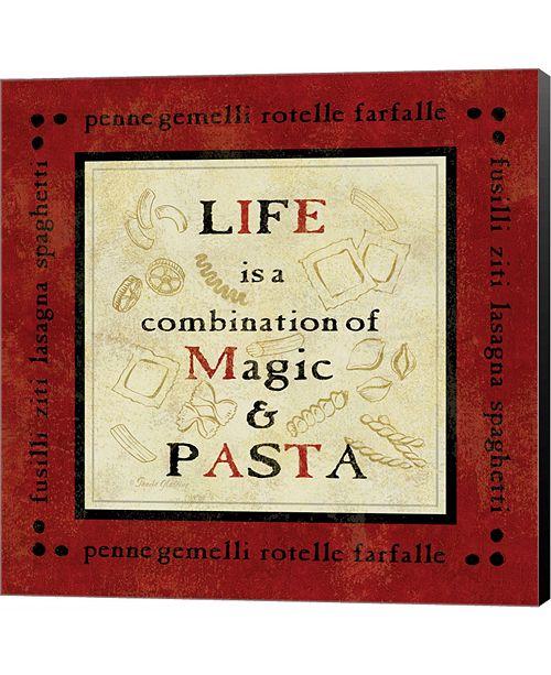 Metaverse Pasta Sayings I by Pamela Gladding Canvas Art