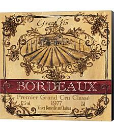 Grand Vin Wine Label III by Tre Sorelle Studios Canvas Art