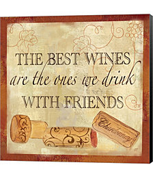 Wine Cork Sentiment II by Cynthia Coulter Canvas Art