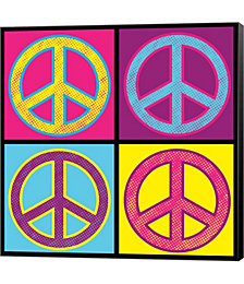 Peace - Colorful by Louise Carey Canvas Art