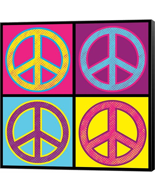 Metaverse Peace - Colorful by Louise Carey Canvas Art