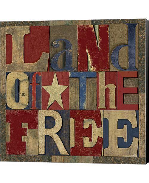 Metaverse Patriotic Printer Block II by David Knowlton Canvas Art