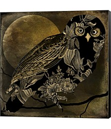 Sepia Moon Owl by Mindy Sommers Canvas Art
