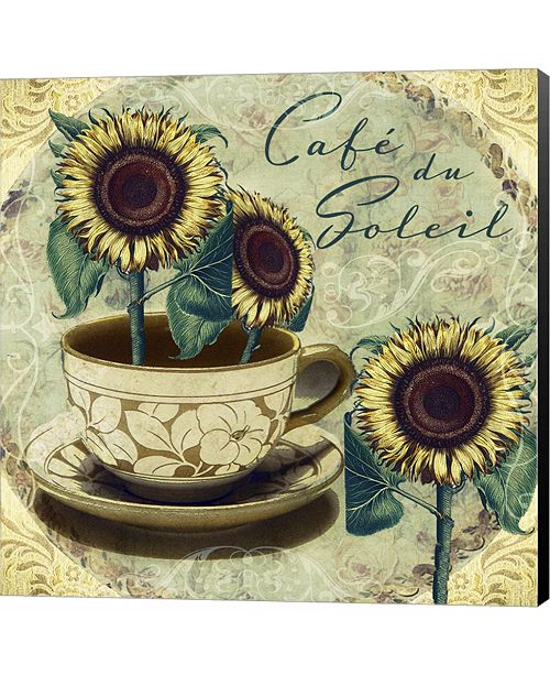 Metaverse Cafe Du Soleil by Mindy Sommers Canvas Art