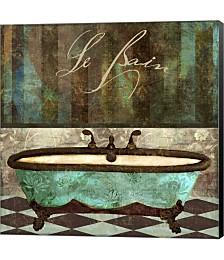 Le Bain Aqua by Color Bakery Canvas Art