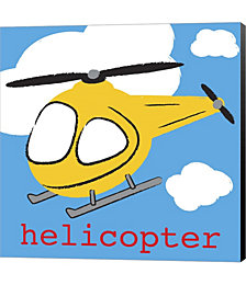 Helicopter by Melanie Parker Canvas Art