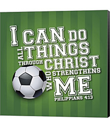 I Can Do All Sports - Soccer by Scott Orr Canvas Art