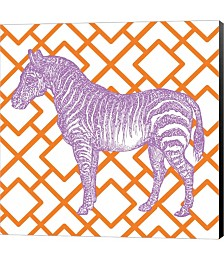 Bright Menagerie Zebra by Janelle Penner Canvas Art