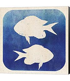 Watermark Fish by Studio Mousseau Canvas Art