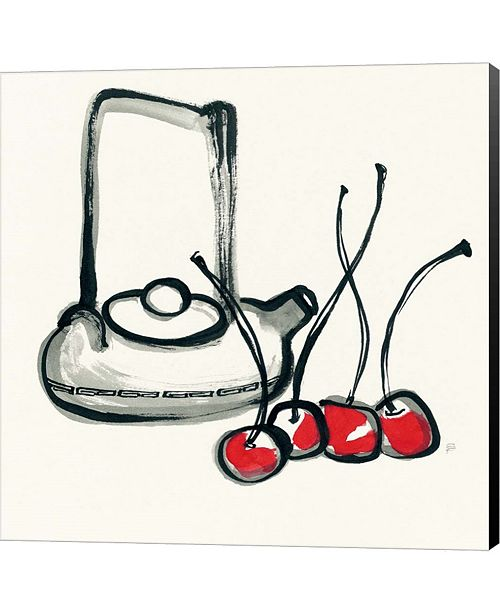 Metaverse Tea and Cherries by Chris Paschke Canvas Art