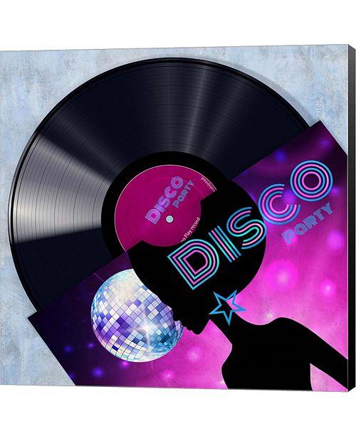 Metaverse Vinyl Club, Disco by Pierre Benson Canvas Art