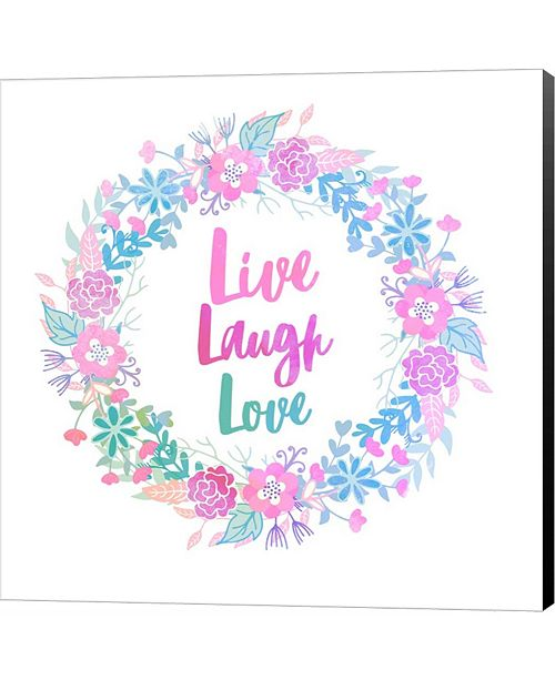 Metaverse Live, Laugh, Love-Pastel by Color Me Happy Canvas Art
