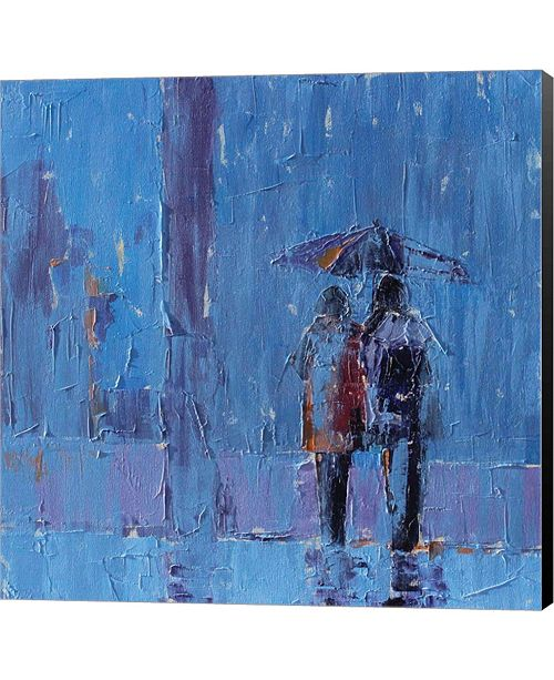 Metaverse Stormy Weather by Leslie Saeta Canvas Art