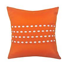 Woven Cord Outdoor Pillow Pumpkin 18X18