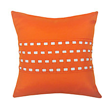 Edie@Home Woven Cord Outdoor Pillow Pumpkin 18X18