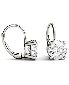 Moissanite Leverback Earrings (3 ct. t.w. Diamond Equivalent) in 14k White or Yellow Gold