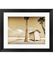 Beach Dressing Room by Skip Nall Framed Art