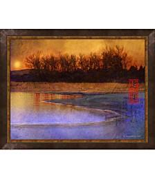 Frozen Lake by Chris Vest Framed Art