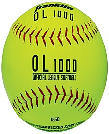 4 Official League Yellow Softballs