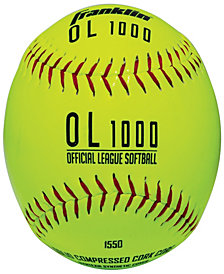 Franklin Sports 4 Official League Yellow Softballs