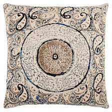 "Rizzy Home 20"" X 20"" Medallion Poly Filled Pillow"