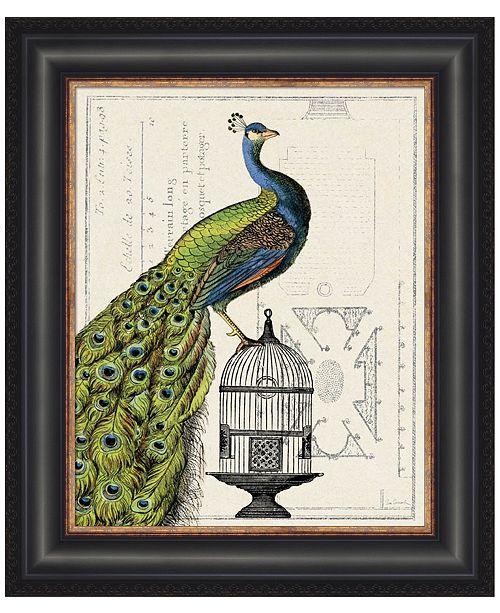 Metaverse Peacock Birdcage I by Sue Schlabach Framed Art