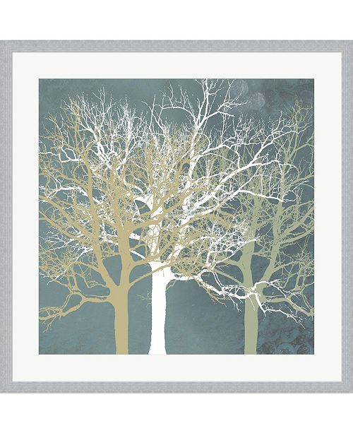 Metaverse Tranquil Trees by Erin Clark Framed Art