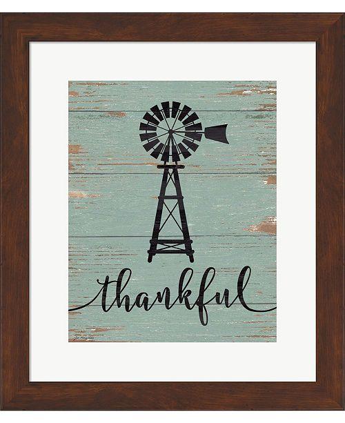 Metaverse Thankful Windmill by Jo Moulton Framed Art
