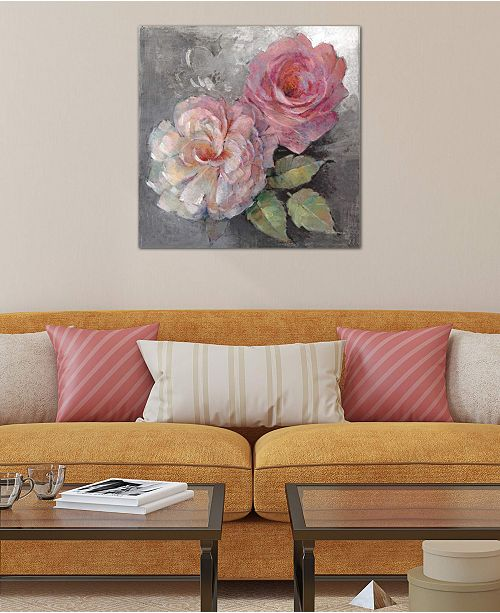 "iCanvas ""Roses On Gray I"" by Peter McGowan Gallery-Wrapped Canvas Print"