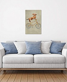 """""""Dachshund On Bicycle I"""" by Coco de Paris Gallery-Wrapped Canvas Print"""
