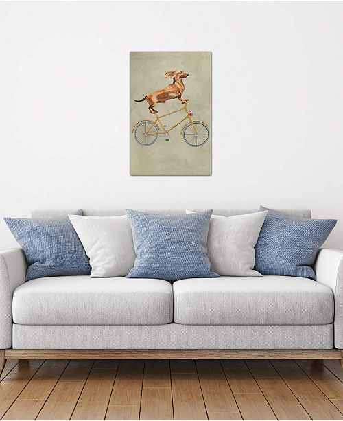 """iCanvas """"Dachshund On Bicycle I"""" by Coco de Paris Gallery-Wrapped Canvas Print"""