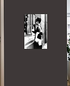 """iCanvas """"Audrey Hepburn Window Shopping II"""" by Radio Days Gallery-Wrapped Canvas Print"""