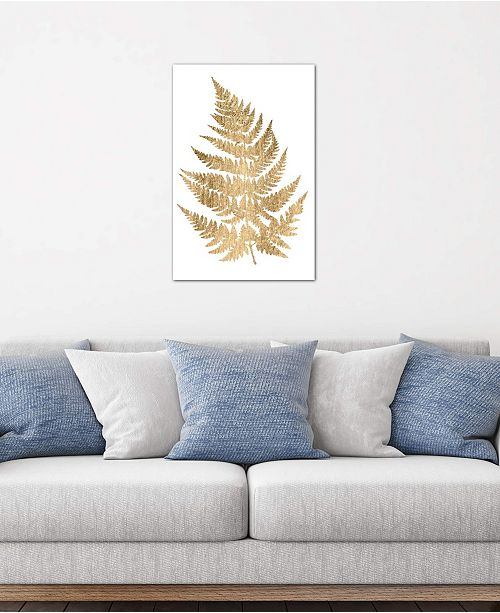 """iCanvas """"Graphic Gold Fern IV"""" by Studio W Gallery-Wrapped Canvas Print (26 x 18 x 0.75)"""