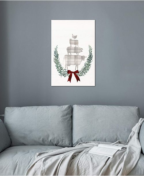 """iCanvas """"Yuletide Animals I"""" by Victoria Borges Gallery-Wrapped Canvas Print (26 x 18 x 0.75)"""