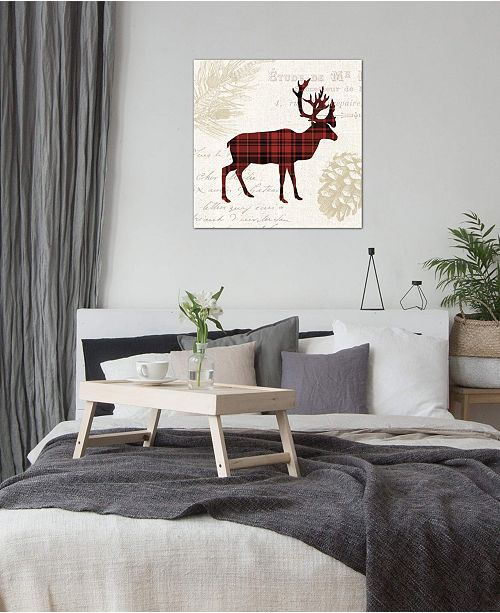 "iCanvas ""Plaid Lodge I"" by Wild Apple Portfolio Gallery-Wrapped Canvas Print (26 x 26 x 0.75)"