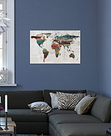 "iCanvas ""Painted World Map IV"" by Irena Orlov Gallery-Wrapped Canvas Print (18 x 26 x 0.75)"