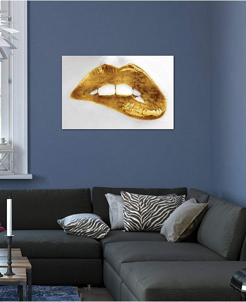 """iCanvas """"Luscious Gold"""" by Sarah McGuire Gallery-Wrapped Canvas Print (18 x 26 x 0.75)"""