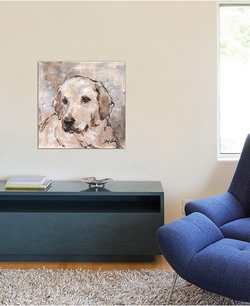 """iCanvas """"Lovely Lab"""" by Debi Coules Gallery-Wrapped Canvas Print (26 x 26 x 0.75)"""
