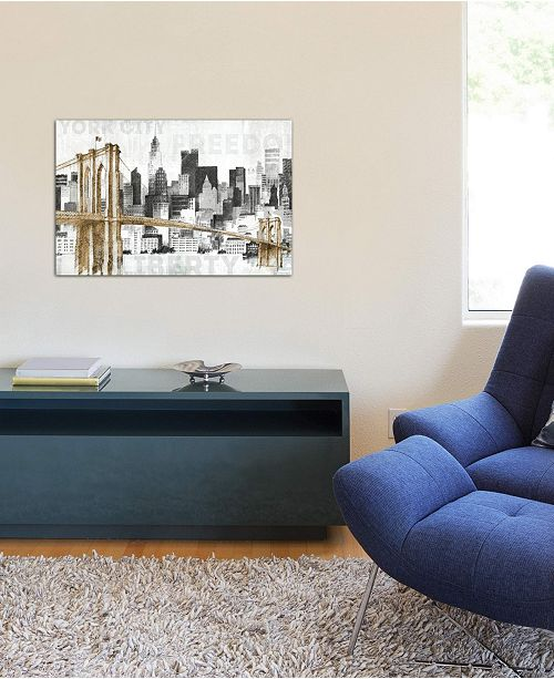 """iCanvas """"New York Skyline I"""" by Avery Tillmon Gallery-Wrapped Canvas Print (26 x 40 x 0.75)"""