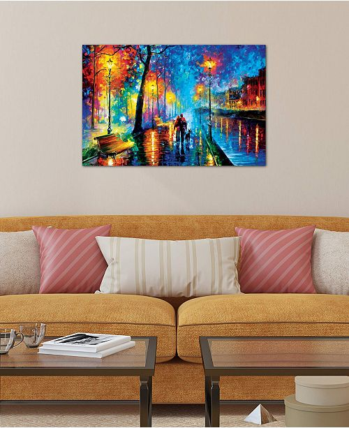 """iCanvas """"Melody Of The Night"""" by Leonid Afremov Gallery-Wrapped Canvas Print (26 x 40 x 0.75)"""