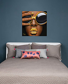 """iCanvas """"Goldilips"""" by Scott Rohlfs Gallery-Wrapped Canvas Print (26 x 26 x 0.75)"""