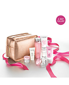 Receive your Holiday Skincare Essentials Collection for $42.50 with any Lancôme purchase, worth $97*