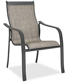 Reyna Aluminum Outdoor Dining Chair, Created For Macy's