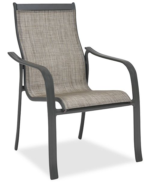 Furniture CLOSEOUT! Reyna Aluminum Outdoor Dining Chair, Created For Macy's