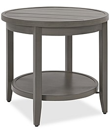 CLOSEOUT! Rialto Outdoor Aluminum Round Side Table, Created for Macy's