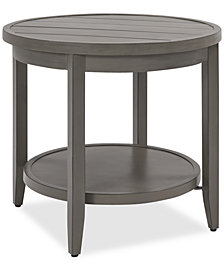 Rialto Outdoor Aluminum Round Side Table, Created For Macy's