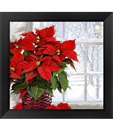 Christmas Poinsettia by The Macneil Studio Framed Art