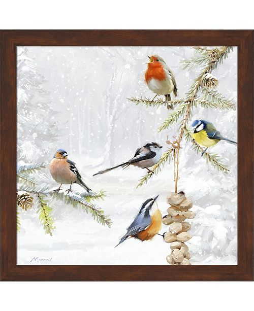 Metaverse Winter Feeder by The Macneil Studio Framed Art