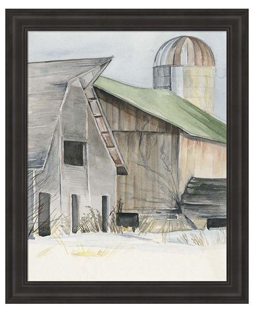 Metaverse Winter Barn II by Jennifer Parker Framed Art